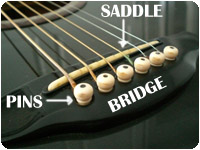 bridge, saddle and pins